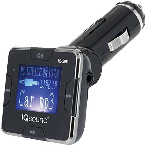 "Supersonic IQ-206SILVER Iq-206 Silver Wireless Fm Transmitter With 1.4"" Display [silver]"