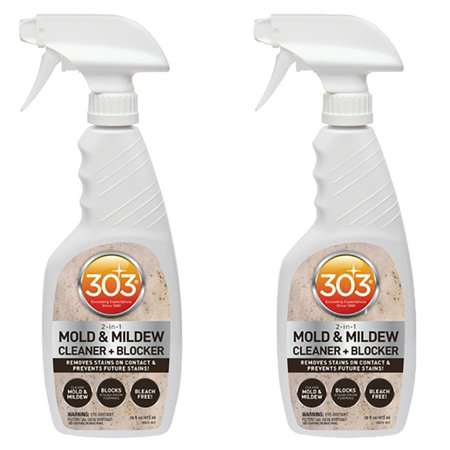 303 Products Mold + Mildew Blocker Cleaner for Vinyl and Leather, 16 Oz (2 (Best Mold Removal Products)