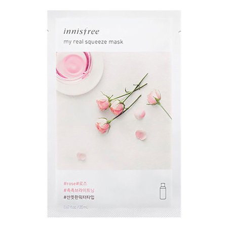 Innisfree My Real Squeeze Rose Mask Set of 5, 20 ml[ BEST BY