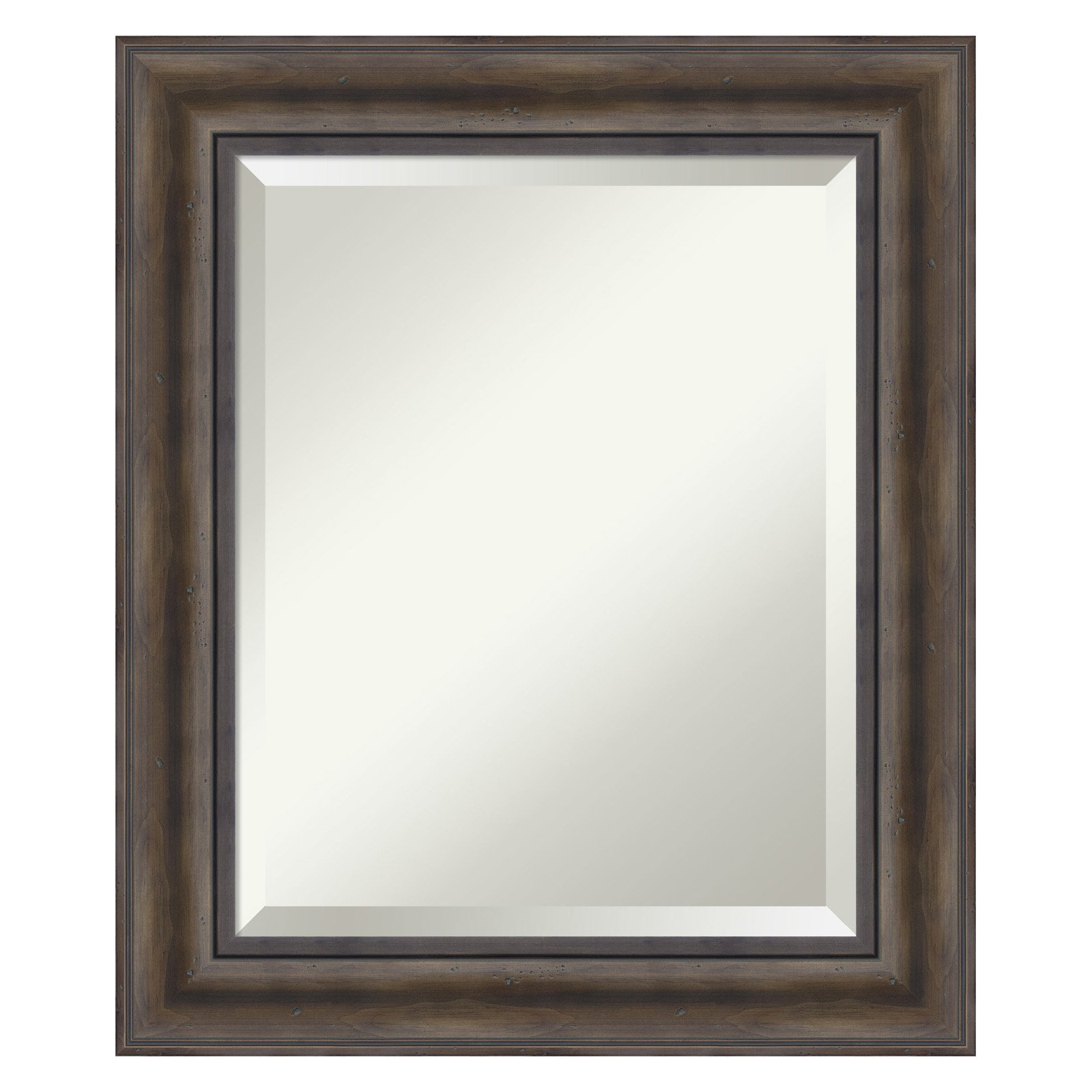 Amanti Art Rustic Pine Bathroom Mirror by Overstock