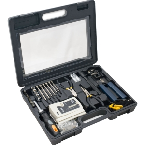 50 PIECE COMPUTER NTWK TOOLKIT MODULAR CRIMPER/MULTI-CABLE TESTER