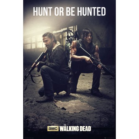 The Walking Dead - TV Show Poster / Print (Rick Grimes & Daryl Dixon - Hunt Or Be Hunted) (Size: 24