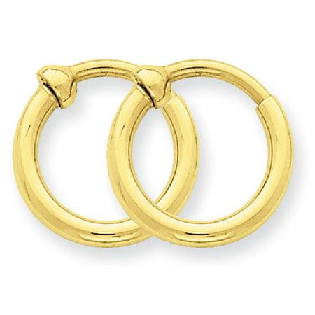 14kt Yellow Gold Non Pierced Hoop Earrings