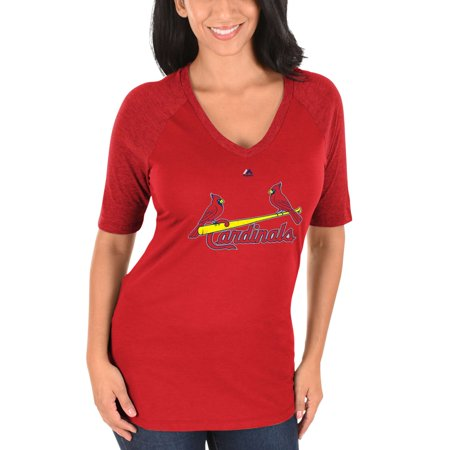 Yadier Molina St. Louis Cardinals Women's Majestic On-Field Victory Player Name & Number V-Neck Half-Sleeve T-Shirt - Red