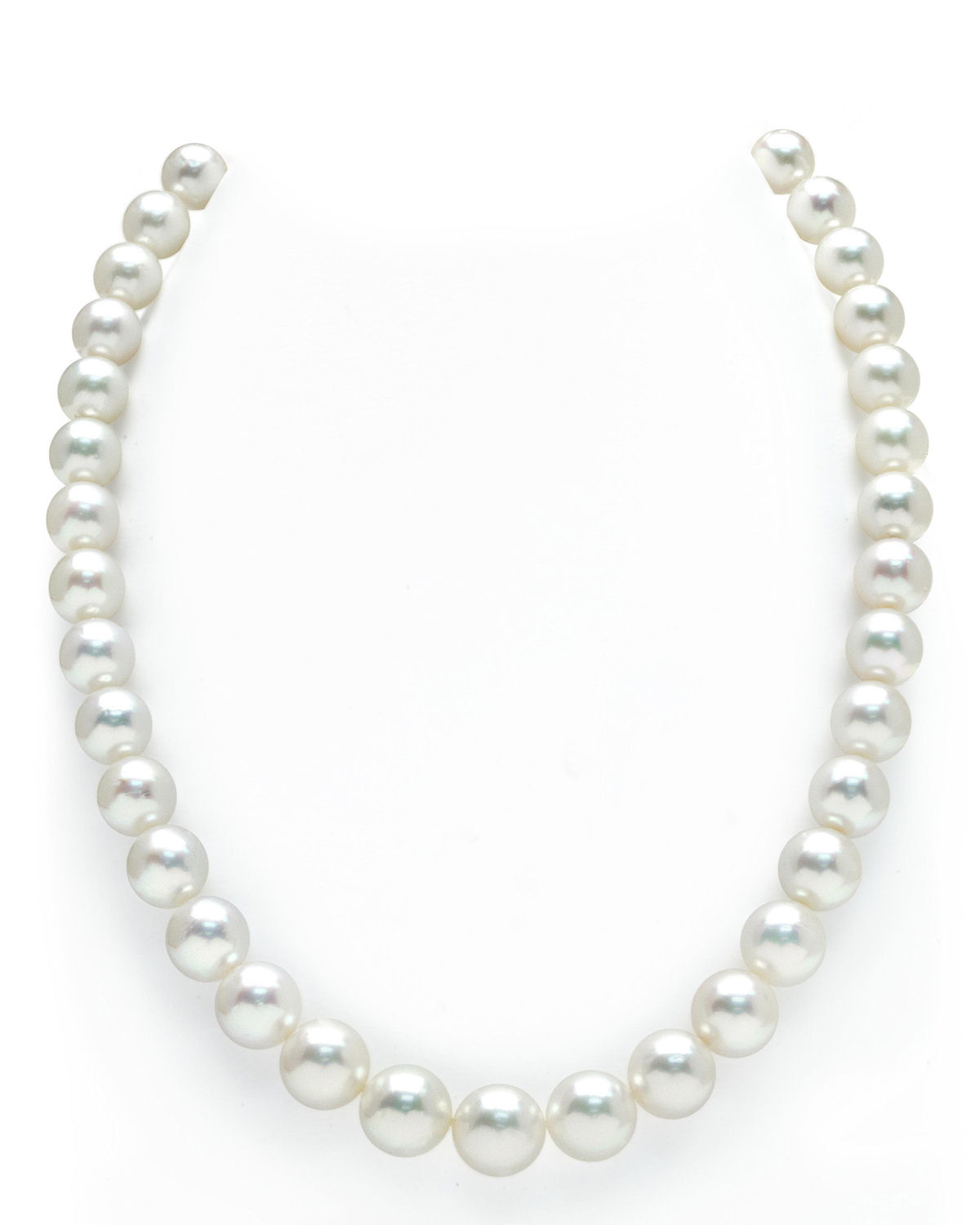 14K Gold 9-12mm Australian White South Sea Cultured Pearl Necklace AAAA Quality by The Pearl Source