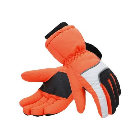 Men's 3M Thinsulate Lined Waterproof Snowboard / Ski Gloves,L,Orange Grey 2010 Mens Snowboard Gloves