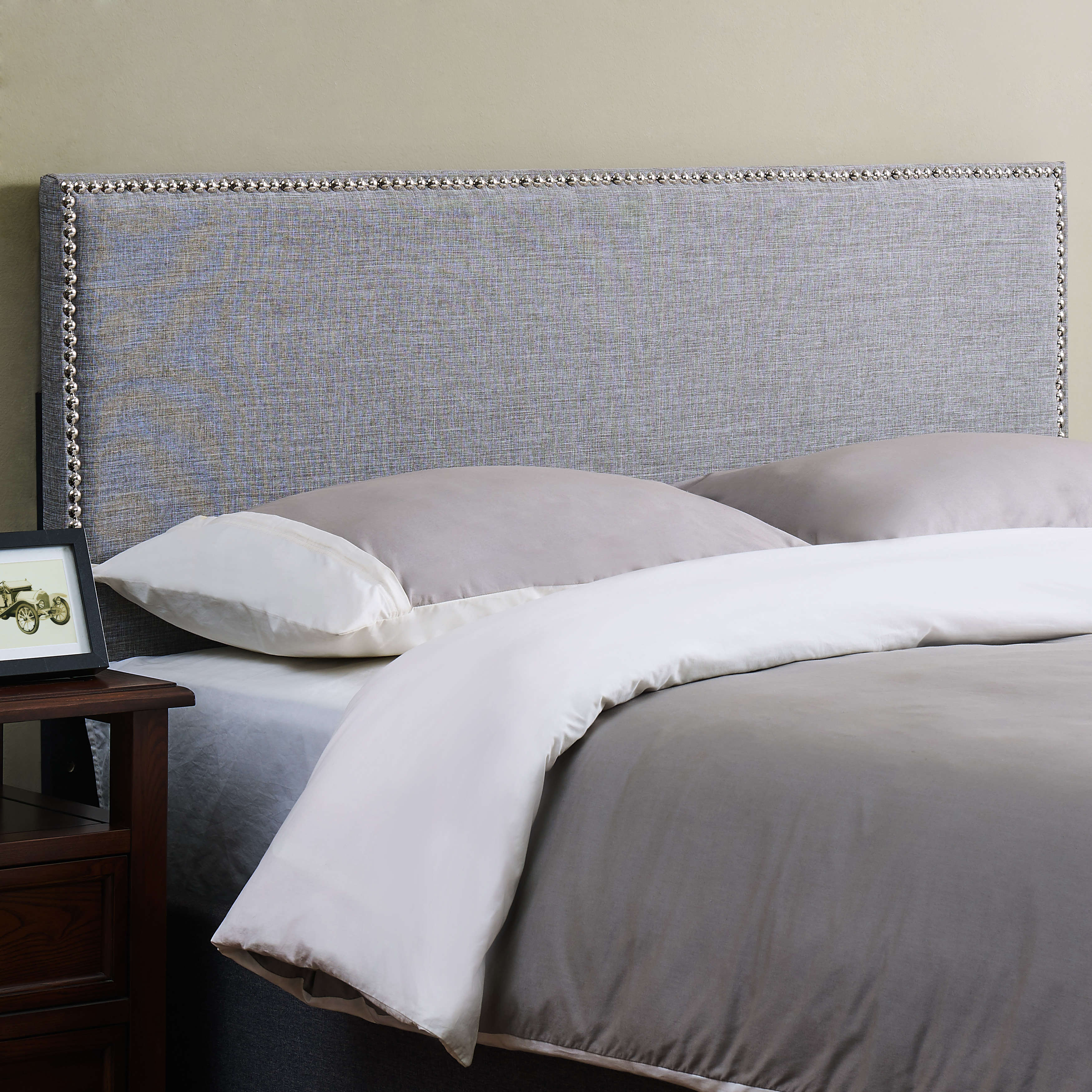 Mainstays Headboard with Nail Heads, Multiple Sizes and Colors