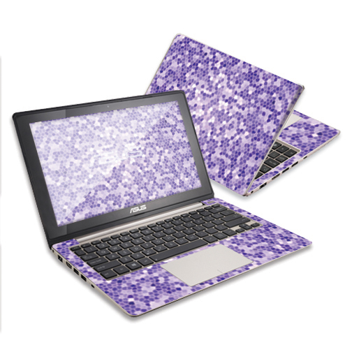 "Mightyskins Protective Skin Decal Cover for Asus VivoBook with 11.6"" screen S200E Q200E wrap sticker skins Stained Glass"