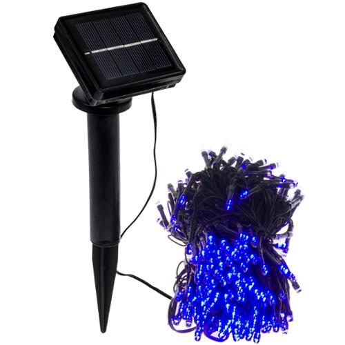 GREENLIGHTING NEW 80' Foot Solar Holiday Rope String Lights w/ 250 Blue LED's