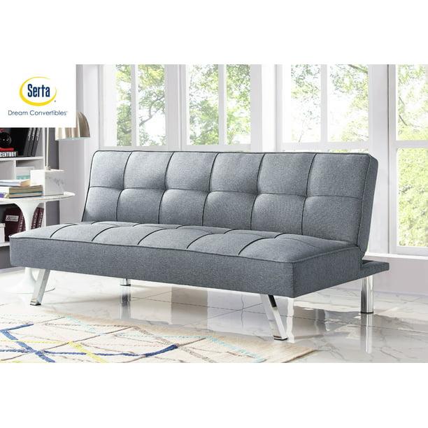 Serta Chelsea 3-Seat Multi-function Upholstery Fabric Sofa, Light Grey