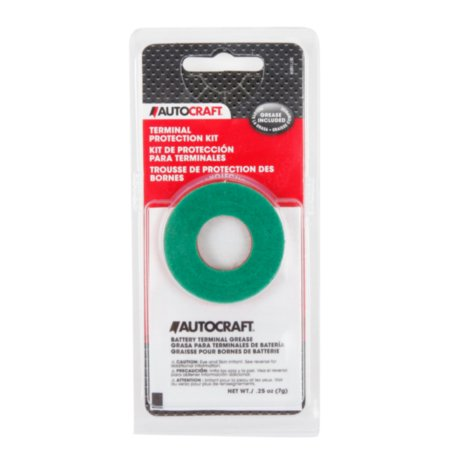 Autocraft Grease Kit - Battery terminal protectors - 1 red, 1 green - Inhibits corrosion, 1 pair, sold by pair (Battery Cable Terminal Kit)