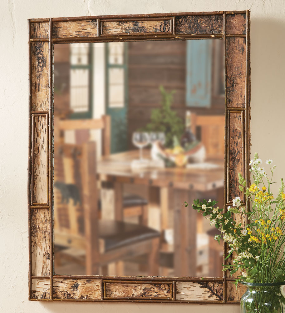 Adirondack Birch Bark Mirror - Small