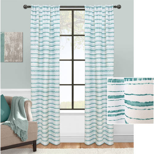 Mainstays Stripe Impression Curtain, Set of 2