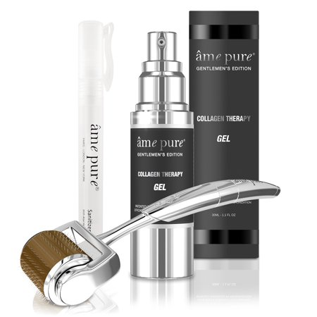 ÂME PURE Men's Micro needle Derma Roller, CIT Face Roller Basic organic kit, oily skin, scars, lines, sensitive skin (3pcs) thumbnail