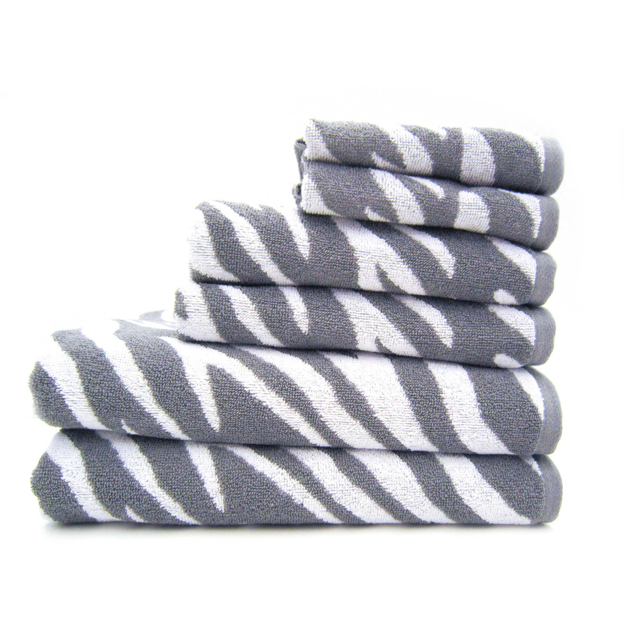 Better Homes and Gardens 6-Piece Zebra Bath Towel Collection