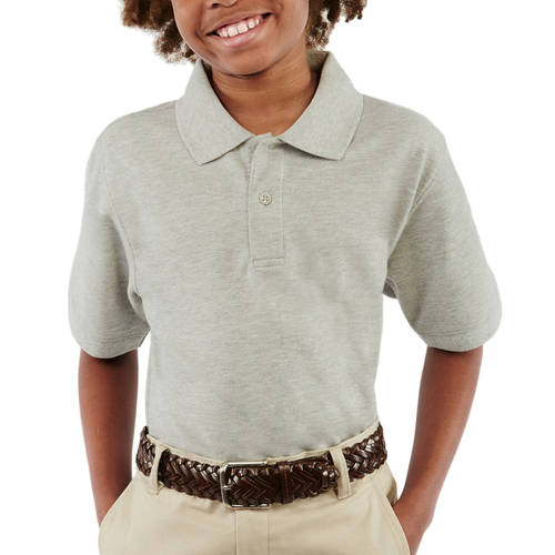 George Boys School Uniforms Short Sleeve Pique Polo Shirt