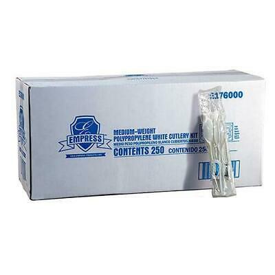 Empress Medium Weight Cutlery Kit with S&P, Napkin, 250 Kits