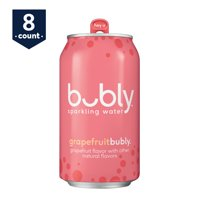 bubly Sparkling Water, Grapefruit, 12 oz Cans, 8 Count