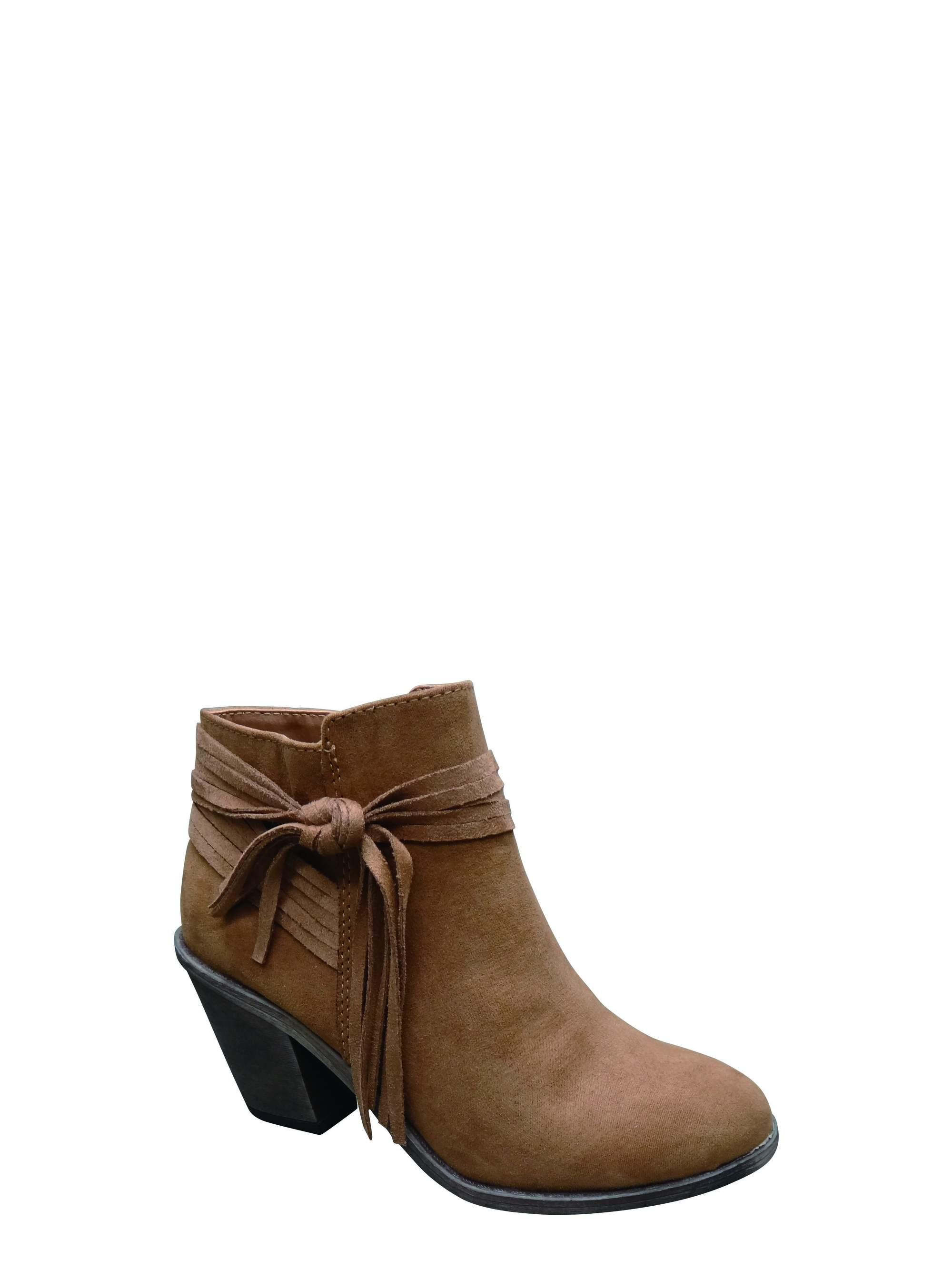 Time and Tru Women's Fringe Boot