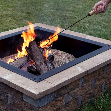 Sunnydaze Steel Fire Pit Poker Stick with Wood Handle, Outdoor Camping Fireplace Tool, 26 Inch Long ()