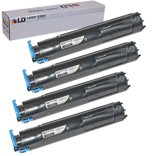 LD Compatible Canon 0386B003AA (GPR22) Set of 4 Black Laser Toner Cartridges  for use in the following: Canon
