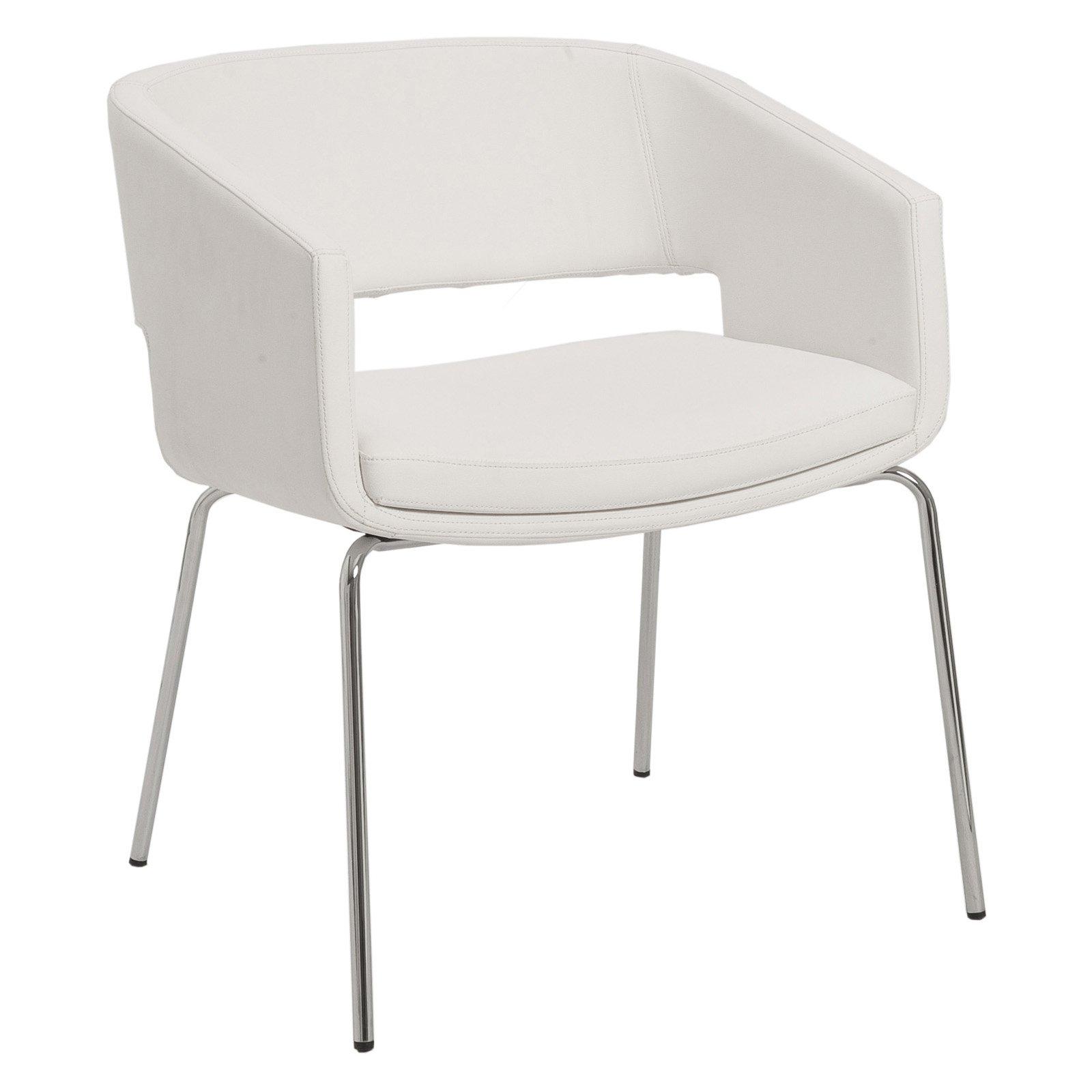 Euro Style Amelia Lounge Chair - White - Set of 2
