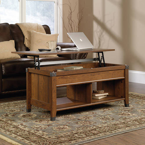 Sauder Carson Forge Lift-Top Coffee Table, Washington Cherry