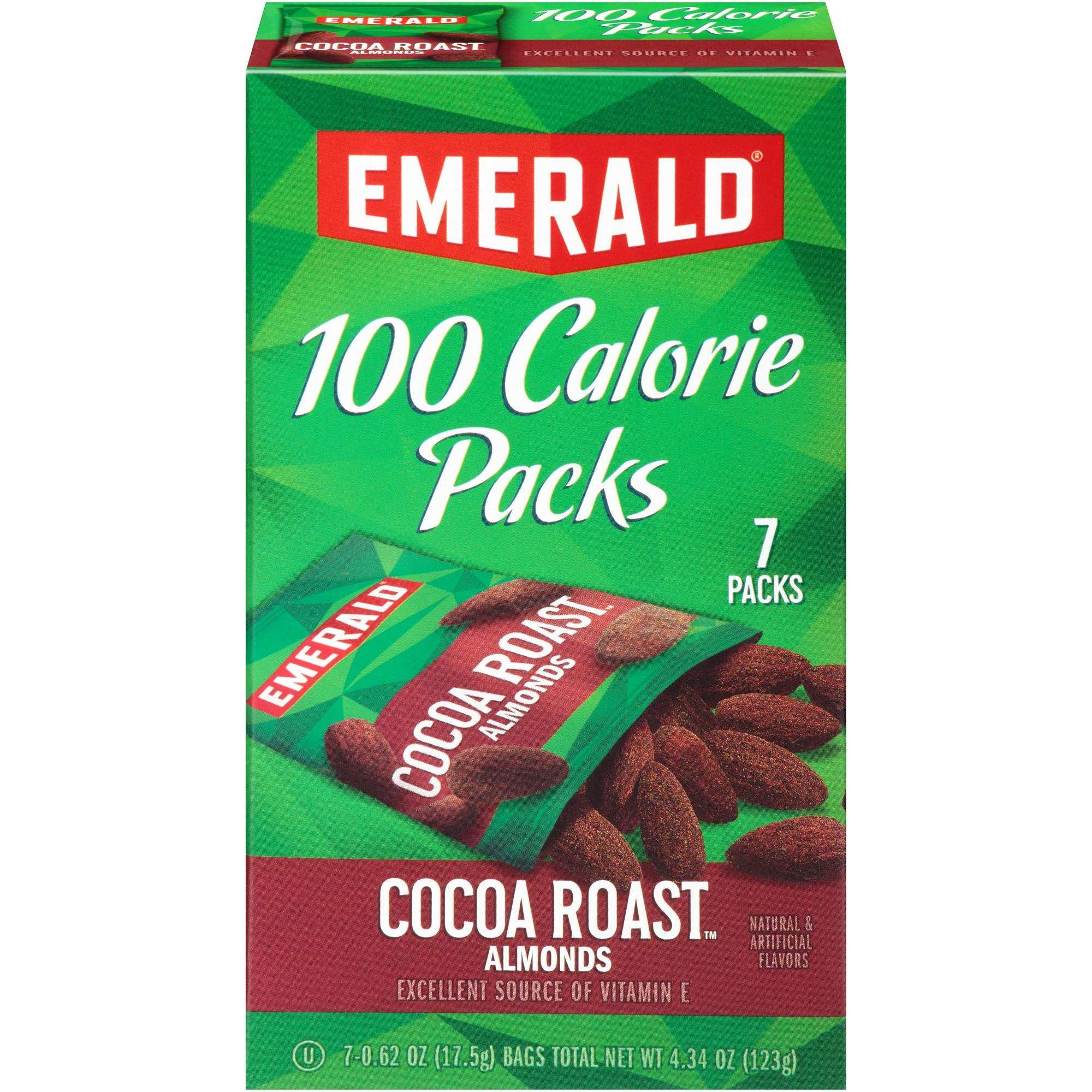 Emerald Cocoa Roast Almonds, 100 Calorie Packs- 7 Count Boxes by Diamond Foods