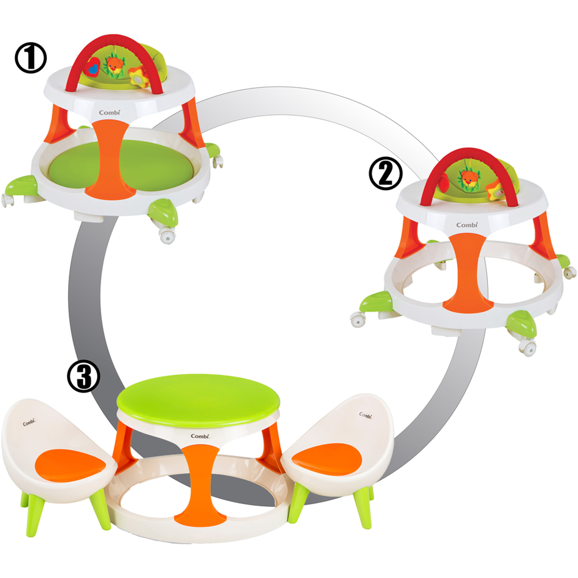 Combi Go and Grow Walker, Play Table and Chairs