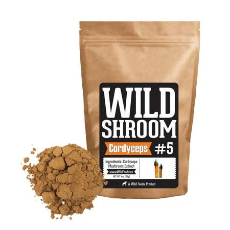 Cordyceps Mushroom - Cordyceps Sinensis Mushroom Powder Extract | Superfood Mushroom Powder Extracts 10:1 - 4oz