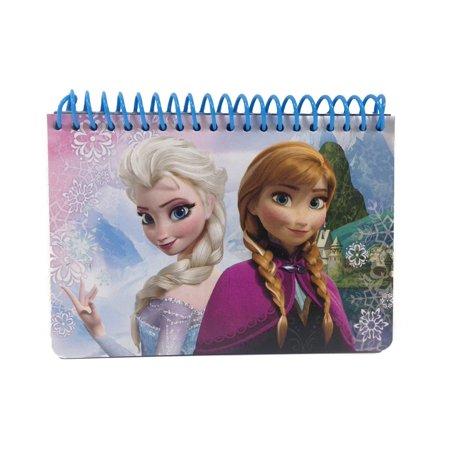 Disney Frozen Elsa Anna Autograph Book Small Note Pad Memo Kids Disneyland Blue (Blue Notepad)