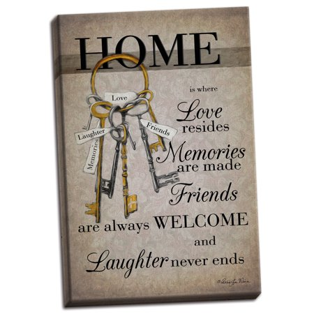 Gango Home Decor Contemporary House Keys by Robin-Lee Vieira (Ready to Hang); One 12x18in Hand-Stretched Canvas