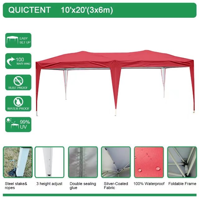 Quictent 10x20 ft Pop Up Canopy Party tent Camping tent Beach Gazebo