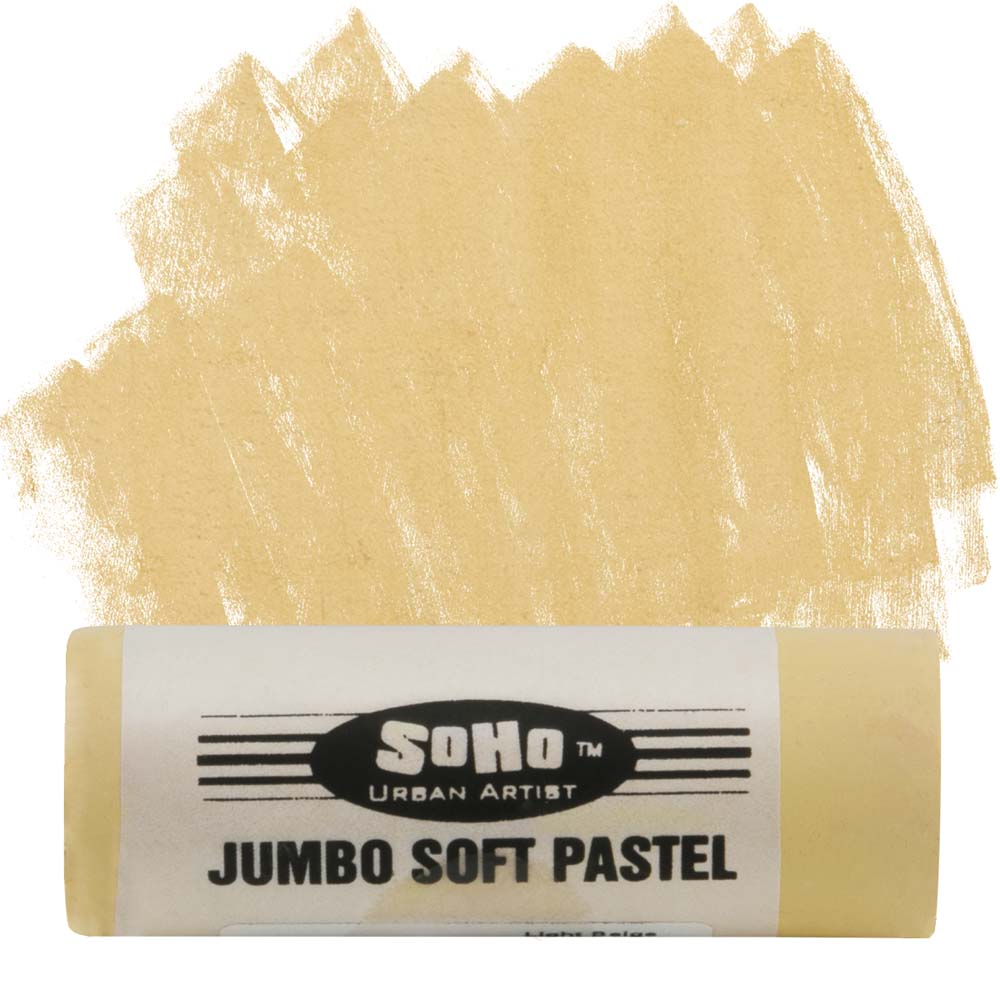 SoHo Urban Artist Jumbo Artists' Soft Pastel Stick - Light Beige