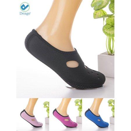 b5f04d0902b Deago Men Women Water Shoes Athletic Sport Beach Walking Shoes Mesh Socks  For Swim Surf Yoga Exercise - Walmart.com