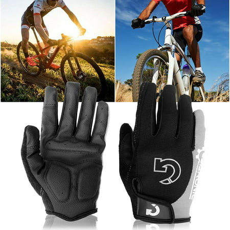 Cycling Mountain Bicycle Full Finger Biking Gel Pad Outdoor Sports