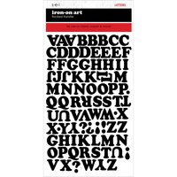 "Chunky Letter Transfers .75"" 1 Sheet/Pkg-Black"