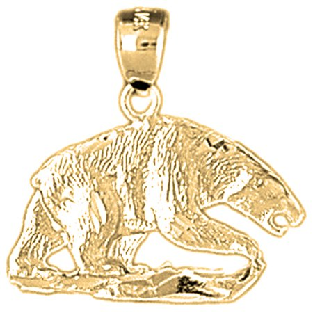 Yellow gold plated 925 sterling silver bear pendant 21 mm approx yellow gold plated 925 sterling silver bear pendant 21 mm approx 255 aloadofball Images