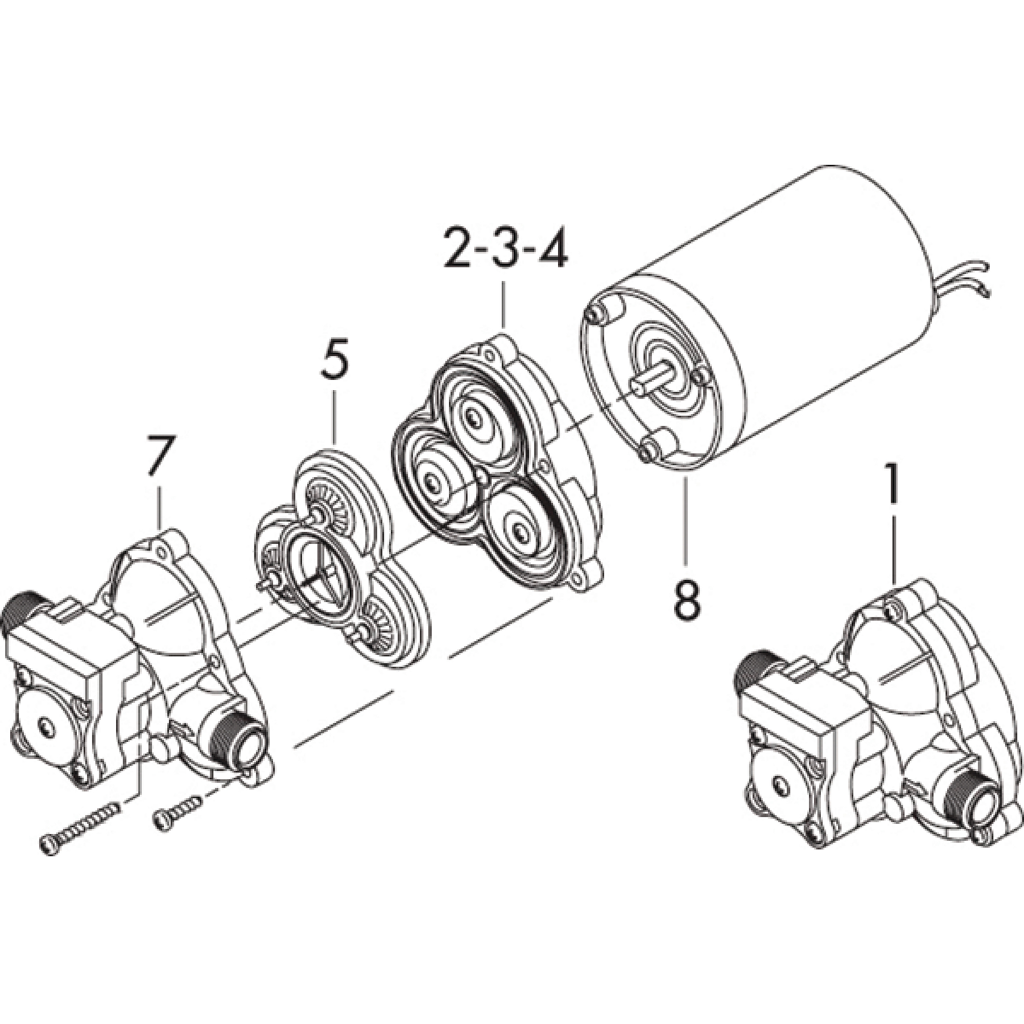 Shurflo Valve Assembly for 2088/2093 Series
