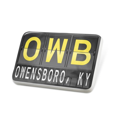 Porcelein Pin OWB Airport Code for Owensboro, KY Lapel Badge – NEONBLOND ()