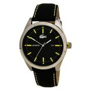 Lacoste 2010596 Men's Montreal Black Dial Black Leather Strap Watch