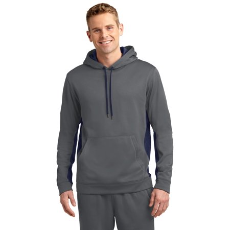 Sport-Tek® Sport-Wick® Fleece Colorblock Hooded Pullover. St235 Dark Smoke Grey/ - image 1 de 1