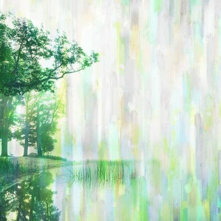 Parvez Taj Green Visions Art Print On Premium Canvas