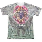 CBGB Graffiti Skull (Front Back Print) Mens Sublimation Shirt