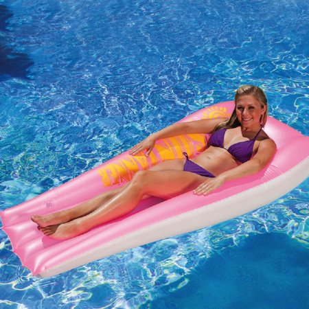 74 5 Quot Pink And White Swimming Pool Suntanner Inflatable