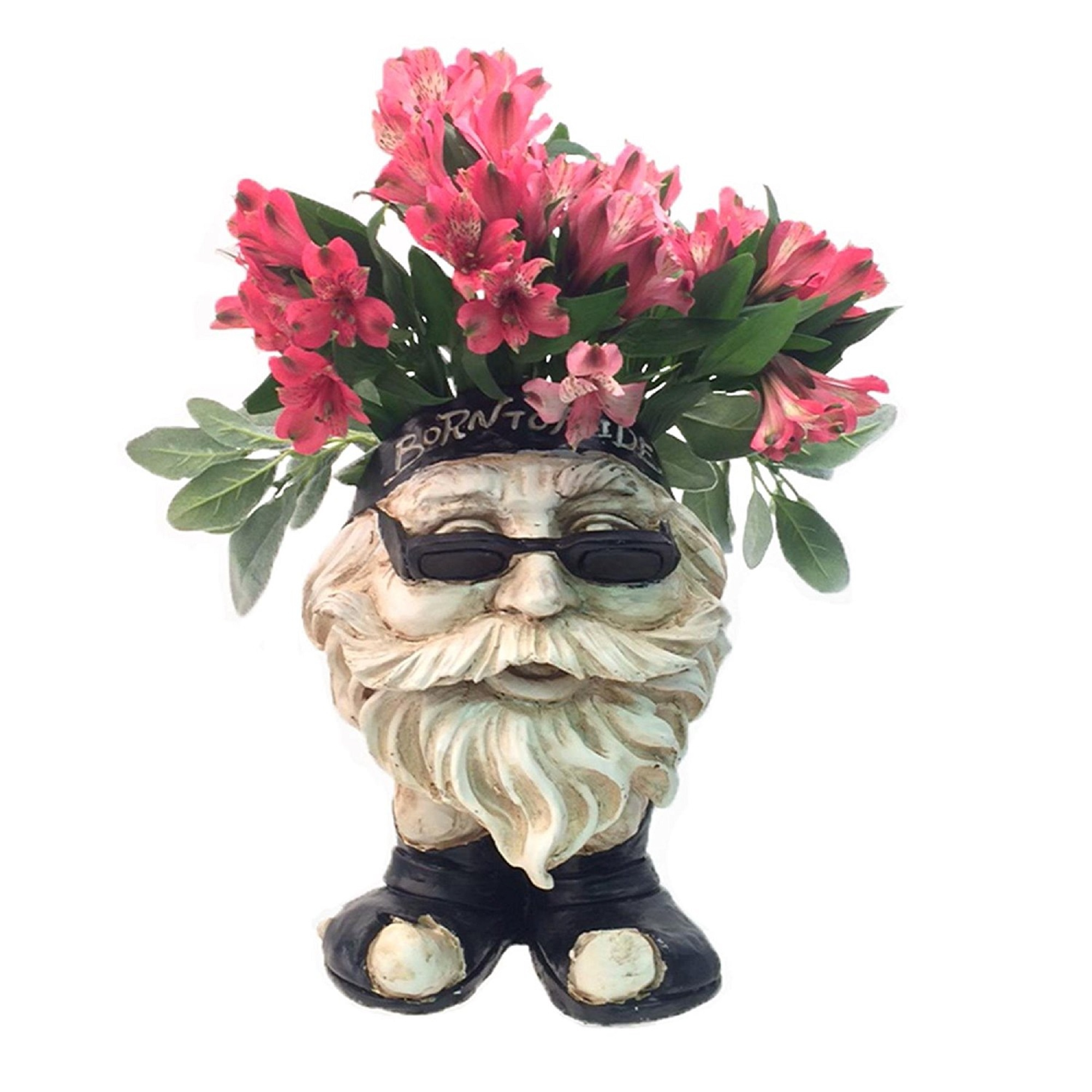 "Homestyles Muggly Biker ""Dude"" Antique White Accent 12"" Face Planter Garden... by GSI Homestyles"