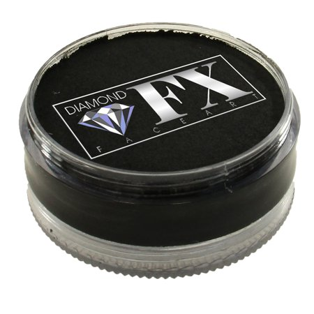Diamond FX Essential Face Paint - Black (90 gm)](Black And White Face Halloween Makeup)