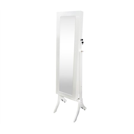 college ave full length jewelry armoire with mirror white tall. Black Bedroom Furniture Sets. Home Design Ideas