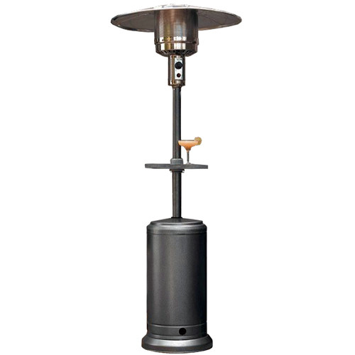 Hiland Tall Hammered Silver Patio Heater with Table by AZ Patio Heaters