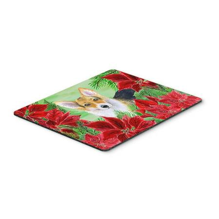 Pembroke Corgi Poinsettas Mouse Pad, Hot Pad or